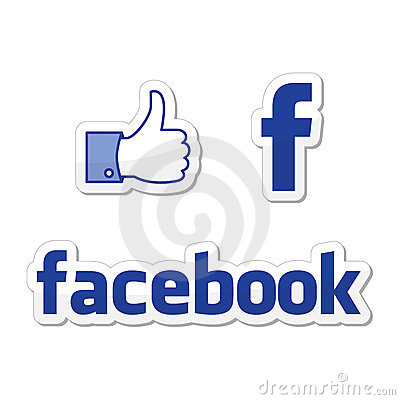 Facebook Like buttons Editorial Stock Image
