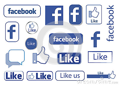Facebook like Editorial Stock Photo