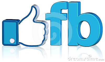 Facebook Like Design Editorial Stock Photo