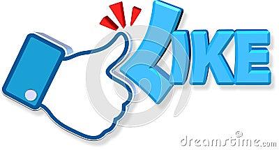Facebook Like Design Editorial Stock Image
