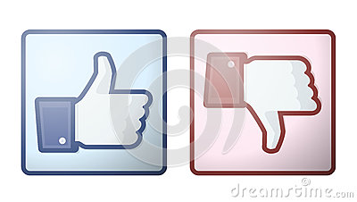 Facebook Like Dislike Thumb Up Sign Editorial Stock Photo