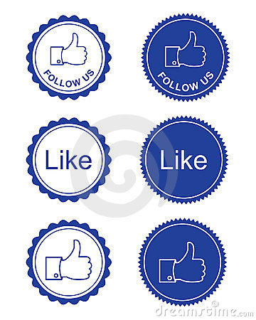 Free Facebook Like / Facebook Follow Us Buttons Stock Image - 23854041