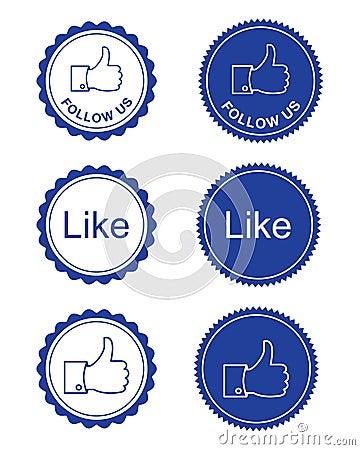 Facebook like / facebook follow us buttons