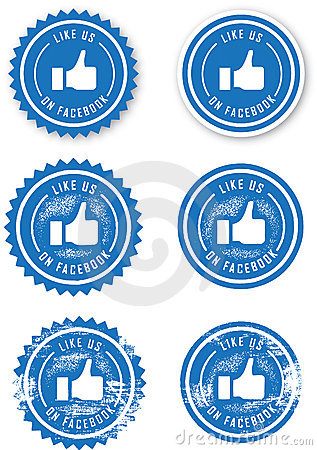 Facebook Like Stamps Editorial Stock Photo