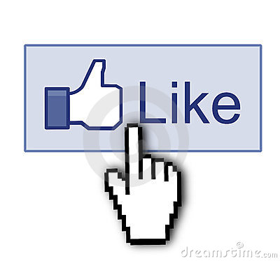 Facebook like thumb up sign Editorial Stock Photo