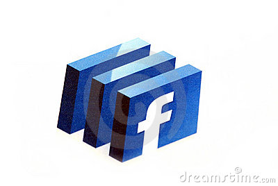 Facebook logo Editorial Stock Image