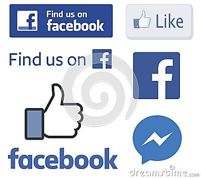Free Facebook Logos And Like Thumb Vectors Royalty Free Stock Photo - 84633825