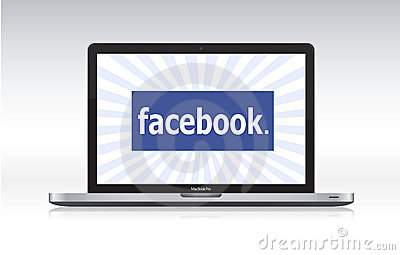 Facebook on macbook pro Editorial Photography