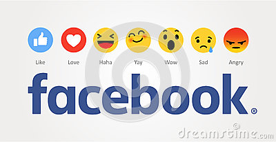 Facebook new like buttons. Vector Illustration