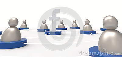 Facebook / People icons. Social media concept. Illustrative edit Editorial Stock Photo