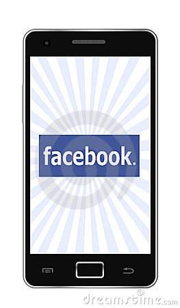 Facebook phone Editorial Stock Photo