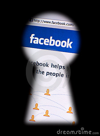 Facebook privacy issues Editorial Stock Image