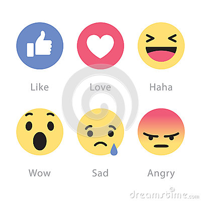 Free Facebook Rolls Out Five New Reactions Buttons Royalty Free Stock Images - 86573099
