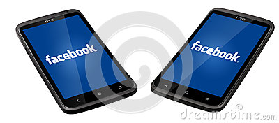 Facebook smartphone Editorial Photography