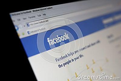 Facebook social network Editorial Photography
