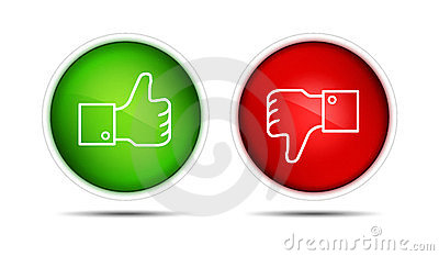 Facebook Thumb Up Down Buttons Isolated Editorial Photo