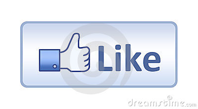 Facebook Thumb Up Like Button Editorial Stock Photo