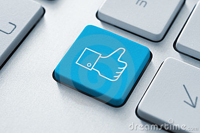 Facebook Thumb Up Like Button Editorial Photo