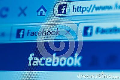 Facebook website Editorial Stock Photo