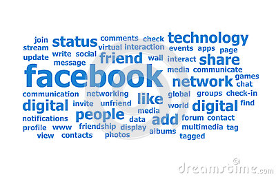Facebook Word Cloud Editorial Image