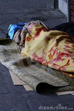 Free Faceless And Homeless Stock Photography - 111612