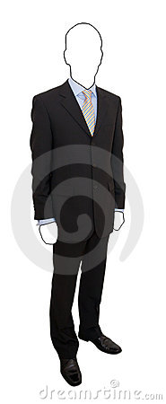 Faceless man in suit
