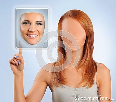Faceless woman