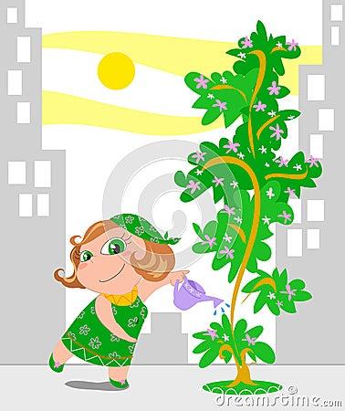 Facendo il giardinaggio nella città