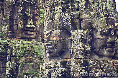 Faces of Angkor Wat (Bayon Temple)