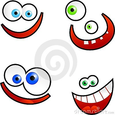 Faces dos desenhos animados