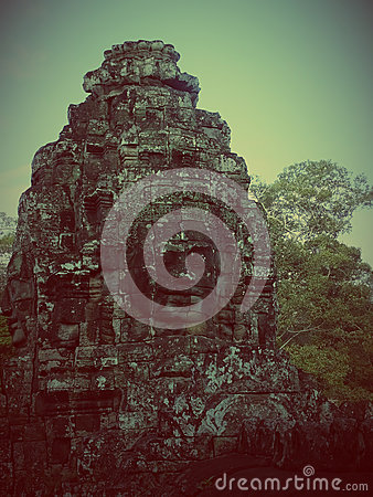 Free Faces Of Bayon Tample. Ankor Wat. Cambodia. Royalty Free Stock Photos - 62428828