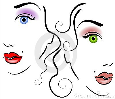 Faces of Women Clip Art 2