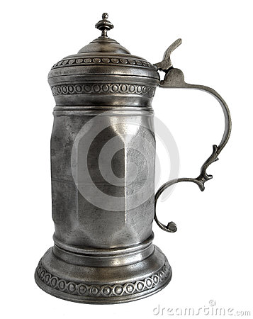 Free Faceted Pewter Tankard Royalty Free Stock Photography - 39580437