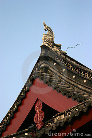 Fachada chinesa decorativa