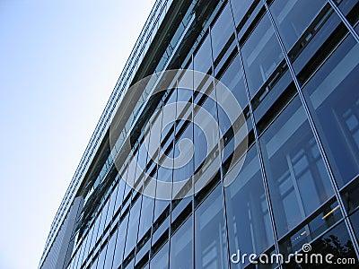 Fachada de vidro do edifício