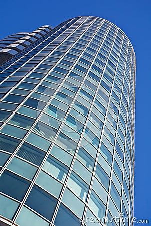 Fachada del detalle de un edificio de oficinas