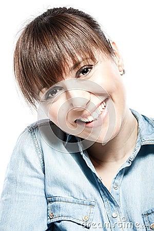 Facial beauty portrait