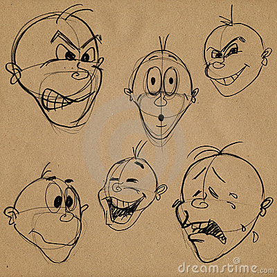 Facial caricature expressions