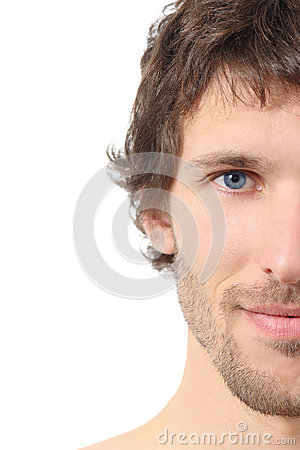 Free Facial Close Up Of A Half Attractive Man Face Stock Photos - 36090793