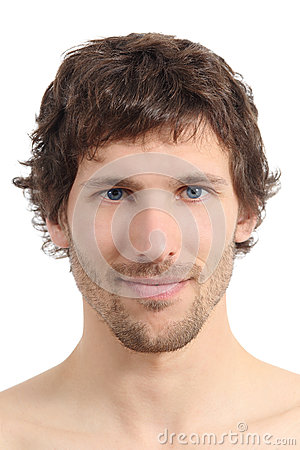 Free Facial Close Up Of An Attractive Man Face Royalty Free Stock Image - 36090816