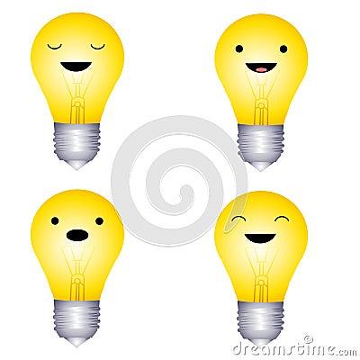 Facial Expression Lightbulbs