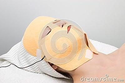 Facial mask electrophoresis procedure