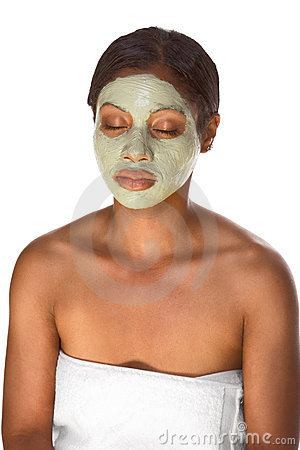Free Facial Mask On Black Girl Stock Images - 6033364