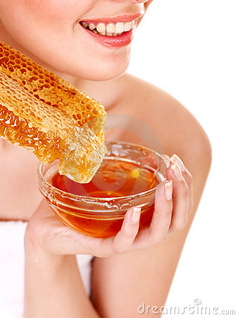 Facial masks of honey.