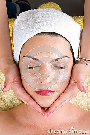 Free Facial Massage At  Daily Spa Royalty Free Stock Image - 14429116