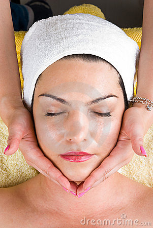 Facial massage at  daily spa