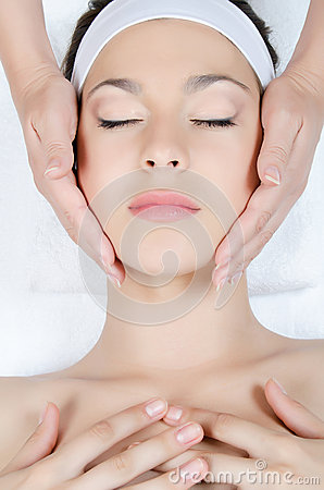 Free Facial Massage To The Woman Stock Image - 25646241