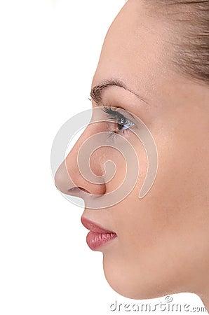 Free Facial Profile Of Young Woman Stock Photos - 21623993