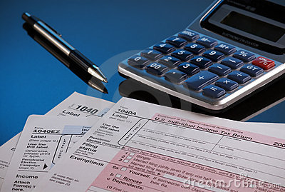 Facing tax time Editorial Image