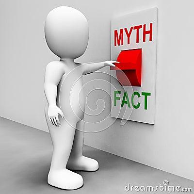 Fact Myth Switch Shows Facts Or Mythology